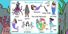 The Little Mermaid Word Mat
