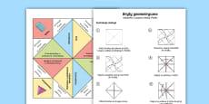 Zabawka z papieru Niebo Piekło Bryły geometryczne