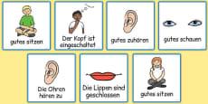 Good Listening Cards German