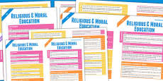 Scottish Curriculum for Excellence Overview Posters Religious and Moral Education Non Catholic Early to Second