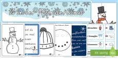 Winter Wunderland Materialien für die Klassenraumgestaltung
