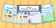 Weather and Seasons Interactive Chart PowerPoint