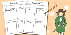 The Great Fire of London Read and Draw Activity Sheet