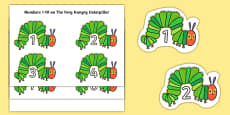 Numbers 1-10 to Support Teaching on The Very Hungry Caterpillar