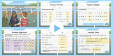 Y6 Algebra Warm-Up PowerPoint