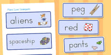Australia - Word Cards to Support Teaching on Aliens Love Underpants