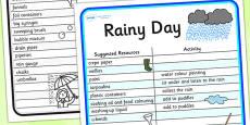 Rainy Day Outdoor Play Ideas