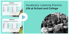 Life at School and College Vocabulary Listening Practice