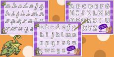 Dragon Themed Letter Writing Worksheet