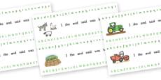 Alphabet Strips (On the Farm)