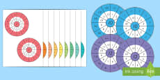 1 to 12 Times Table Wheel Cut-Out Pack