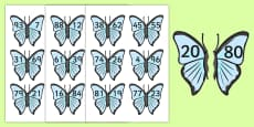 Number Bonds to 100 On Butterflies
