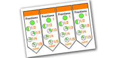 Fractions Bookmarks