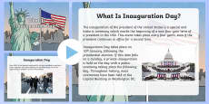 What Is Inauguration Day? Information PowerPoint