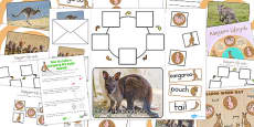 Australia - Kangaroo Life Cycle Lapbook Creation Pack
