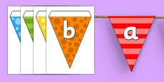 Multicolour Alphabet Display Bunting