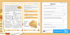 KS2 Pancake Day Differentiated Comprehension Go Respond Activity Sheets