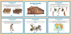 Ancient Greece Display Fact Posters Romanian Translation