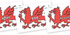 Connectives on Welsh Dragons