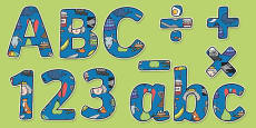 Phase 1 Themed Display Lettering Letters and Numbers Pack