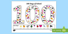 100 Days of School Counting Activity Sheets