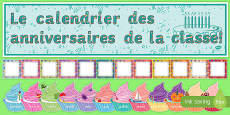 French Birthday Graph Display Pack