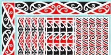 Kowhaiwhai Display Borders
