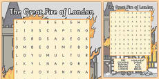 The Great Fire Of London Wordsearch