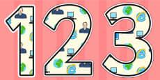Tim Berners Lee Themed Display Numbers