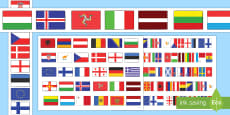 European Flags Borders