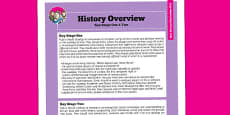 2014 Curriculum History Overview