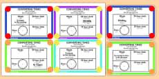 Converting Time Challenge Cards Arabic Translation