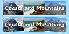 Coasts and Mountains Photo Display Banner
