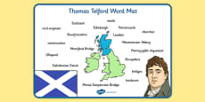 Scottish Significant Individuals Thomas Telford Word Mat