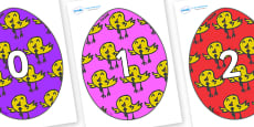 Numbers 0-31 on Easter Eggs (Chicks)
