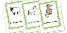 French Animal Flashcards