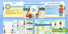 Sun, Sea and Beach Safety Information and  Activity Pack