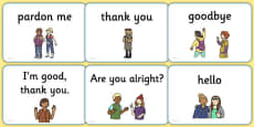 Greetings A5 Flashcards English