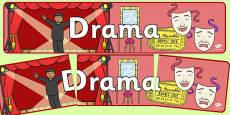 Drama Display Banner NZ