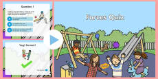 Forces Quiz PowerPoint