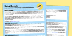Using Scratch in the Key Stage 1 and Key Stage 2 Computing Curriculum Help Sheets - Australia