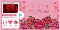 EYFS All About Valentine's Day PowerPoint French