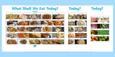 What Shall We Eat Today? Display Posters