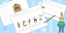 Pencil Control Sheets to Support Teaching on The Great Pet Sale