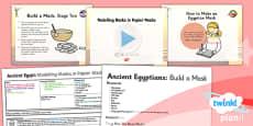 PlanIt - Art UKS2 - Ancient Egypt Lesson 5: Modelling Masks in Papier Mache Lesson Pack