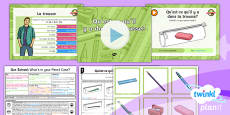 PlanIt - French Year 3 - Our School Lesson 2: What's in Your Pencil Case? Lesson Pack