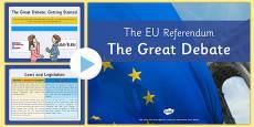 EU Referendum 2016 The Great Debate Presentation
