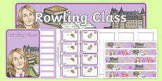 J K Rowling Themed Class Resource Pack