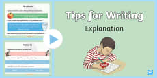 Tips for Writing Explanations PowerPoint