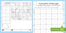 Das Kleine Einmaleins Faschingspuzzle (3er, 4er, 5er) Aktivität